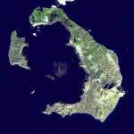 Die Insel Santorin im Ägäischen Meer - Bildquelle: Public Domain (NASA)
