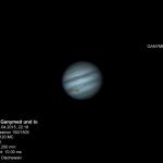 Jupiter mit Ganymed und Io - 18.04.2015 - 22.16